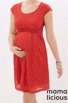 Mamalicious Cap Sleeve Lace Dress