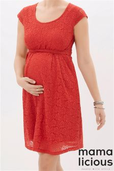 Mamalicious Cap Sleeve Lace Dress