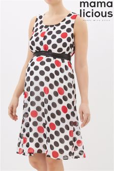 Mamalicious Maternity Polkadot Print Dress