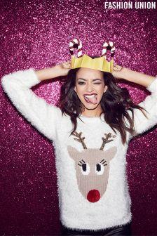 Fashion Union Rudolph Christmas Jumper