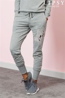 Lipsy Embroidered Cut Work Joggers