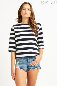 Frnch Striped Layered Top