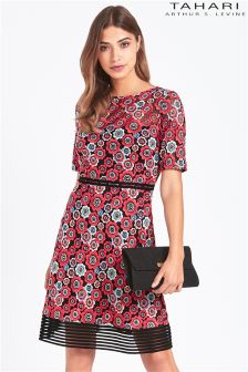 Tahari Floral Embroided Lace Dress