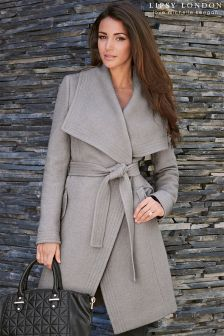 Lipsy Love Michelle Keegan Wool Wrap Coat