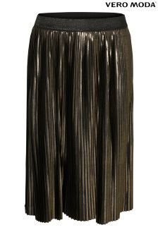 Vero Moda Metallic Pleated Skirt