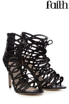 Faith High Heel Caged Sandals