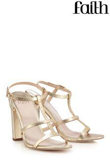 Faith High Heel Block Sandals