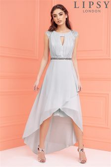 Lipsy Embellished Waist High Low Bridesmaid Dress