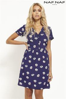 Naf Naf Printed Short Sleeves Dress
