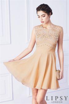 Lipsy Embellished Skater Dress