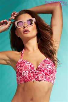 Butterfly By Matthew Williamson Print Bikini Top