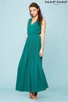 Naf Naf Pleated Sleeveless Dress