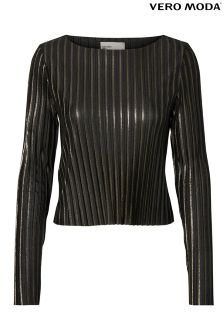 Vero Moda Pleated Long Sleeve Top