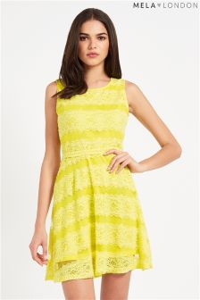 Mela Yellow Lace Dress