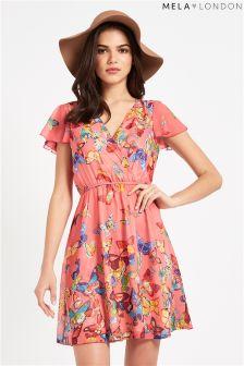 Mela Short Sleeve Butterfly Dress