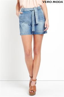 Vero Moda Denim Tie Front Shorts