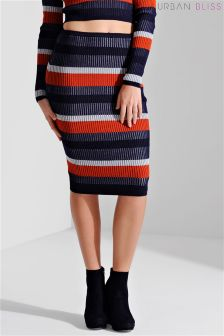 Urban Bliss Plated Rib Knit Skirt