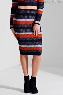 Urban Bliss Plated Rib Knit Skirt