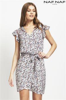 Naf Naf Printed Mid Length Dress