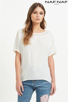Naf Naf Lace Insert T-Shirt