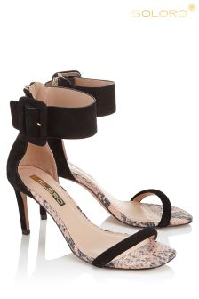 Soloro Suede High Heeled Buckle Sandals