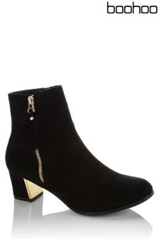 Boohoo Zip Detail Ankle Boot