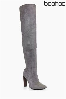 Boohoo Thigh Stretch Boots