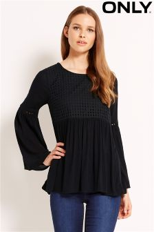 Only Bell Sleeve Crossover Top