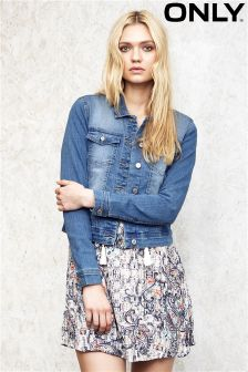 Only Medium Wash Denim Jacket