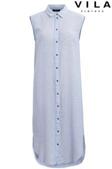 Vila Long Line Sleeveless Shirt
