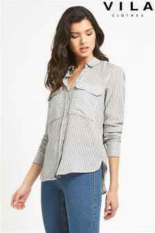 Vila Stripe Pocket Shirt