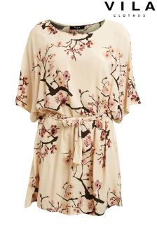 Vila Cherry Blossom Tunic Dress