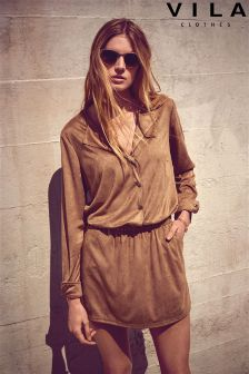 Vila Suedette Long Sleeve Shirt Dress