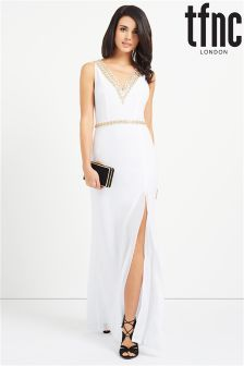 tfnc Embellished V Neck Maxi Dress