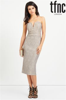 tfnc Lace Bodycon V Neck Dress