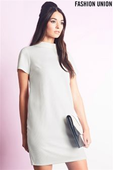 Fashion Union Funnel Neck Dress