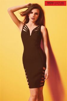 Wow Couture Caged Detail Bodycon Bandage Dress