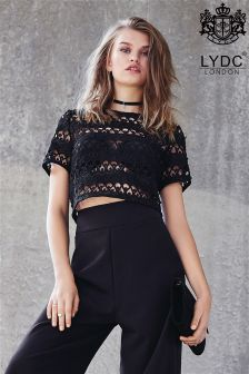 LYDC Lace Boxy Crop Top