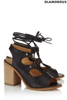 Glamorous Lace Up Heeled Sandals