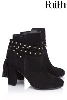 Faith Studded Wrap Boots