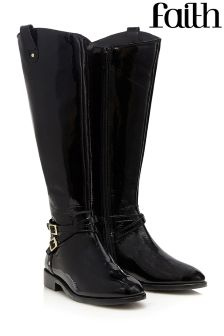Faith Flat Knee High Boots