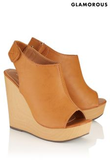 Glamorous Peep Toe Wedged Sandal