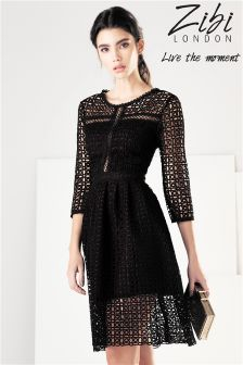Zibi London Crochet  Lace Dress