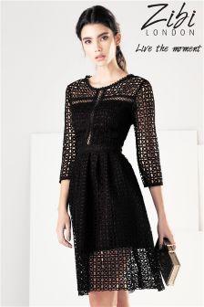 Zibi London Crochet  Lace Dress
