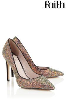 Faith Glitter Court Shoe