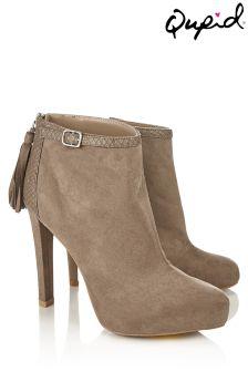 Qupid Tassel Ankle Boots