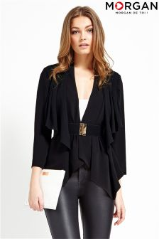 Morgan Waterfall Belted Blazer