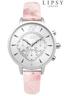 Lipsy Faux Snake Skin Strap Watch
