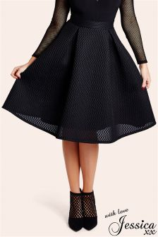 Jessica Wright Seline Textured Prom Skirt