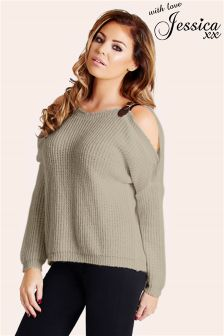 Jessica Wright Buckle Knit Jumper